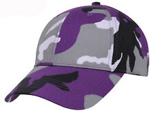 Low Profile Camo Cap Ultra Violet Camouflage Baseball Hat Rothco 7958