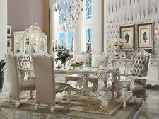 VICTORIA 7 pieces Dining Room Furniture Ivory White Rectangular Table Chairs Set