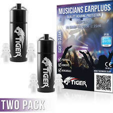 More details for tiger musicians filter earplugs hearing protection ear plugs snr 26db - two pack