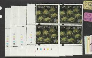 Singapore Coral SG 751-4 Plate Block of 4 MNH (1ezr)