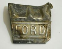 Collectable Antique/Vintage Ford Emblem Latch Hood Ornament Digging Find