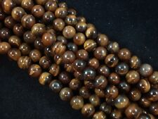 Gemstone Beads Tiger Eye 8mm Round Beads 35cm Strand Jewellery FREE POSTAGE