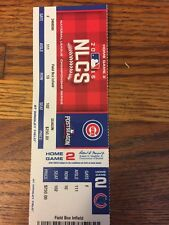 Chicago Cubs Ticket Stub Game 2 NLCS October 16, 2016