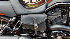 Cuero Silla Bolsa adecuada para Harley Davidson V Varilla Varilla De Noche Y Calidad Italiana