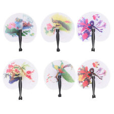Summer Kids Child Girl Chinese Fan Folding Small Round Paper Hand Fans OJ