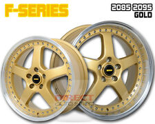 4x FR GOLD 20 inch Staggered Alloy Wheel FORD FALCON AU BA BF FG XR6 XR8 G6E