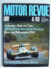 Zeitschrift Motor Revue Heft 72 4.1969 mit Ferrari Daytona, Maserati A6 GCS/2000