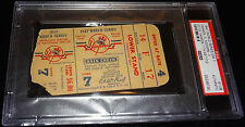 1947 WORLD SERIES GAME 7 TICKET NEW YORK YANKEES STADIUM CLINCH 11X WS TITLE PSA