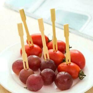 Bamboo Fruit Cocktail Forks Party Finger Food Wedding BBQ Buffet Fruit Chocolate