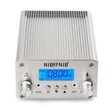 Nouveau Argent PLL émetteur FM radio stéréo station Sans Fil Bluetooth Broadcast