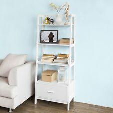 SoBuy® Étagère style échelle de 4 niveaux,1 tiroir-Blanc 64x40x160cm,FRG116-W FR