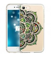 Coque Iphone 7 PLUS 8 PLUS Mandala vert jungle tropical doodling transparente