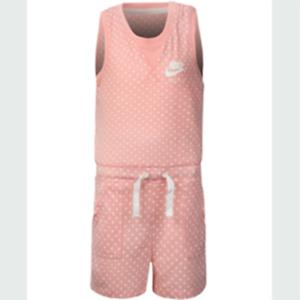 New Nike Little Girls Dot Print Jumpsuit Romper Choose Size MSRP $36.00