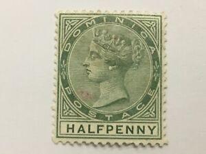old stamp  DOMINICA half penny QV