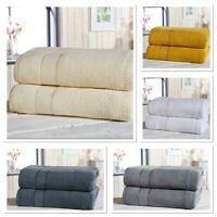 """Rapport 100% Cotton """"Royal Velvet"""" 2 Pack Bath Sheets Towel 5 Colours Available"""