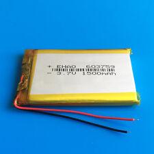 3.7V 1500mAh 603759 Li Po Battery for Speaker Cell Phone DVD GPS PSP MID Camera