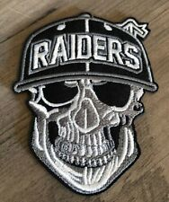 OAKLAND RAIDERS SKULL Iron / Sew On Patch FREE Shipping Football Skeleton NEW