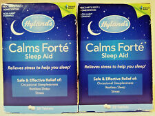 HYLAND'S CALMS FORTE SLEEP AID 50 TABLETS EACH 2 PACK HOMEOPATHIC FREE SHIPPING