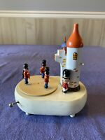 """Schmid """"Parade Of The Wooden Soldiers"""" Castle Music Box W/ Moving Soldiers"""
