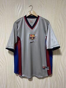 BARCELONA 1999 2001 AWAY FOOTBALL SHIRT SOCCER JERSEY NIKE sz XL