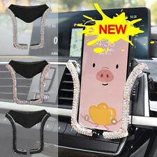 Universal Car Phone Holder Mount Bling Crystal Rhinestone Auto Air Vent Clip_