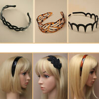 Hair Alice Band Headband Women Hairband Hoop Knot Twist DIY Tort Wide Teeth Grip