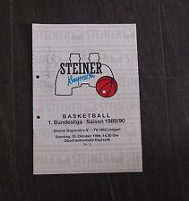 Steiner Bayreuth Basketball 1.Bundesliga Stadionheft 1989 / 1990 TV Langen