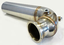 "OBX Stainless Universal Modular 90° Exhaust Down Pipe Downpipe 3"" OD V-Band 3.5"""