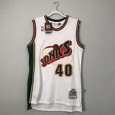 Shawn Kemp Seattle Supersonics Mitchell & Ness NWT NBA Jersey Size Men's 48(XL)