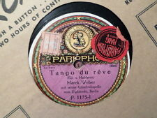 "GERMANY 12"" Parlophon 78 RPM RECORD 1072/MAREK WEBER/SMILES/POOR BUTTERFLY/ VG+"