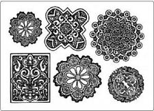 CREATIVE EXPRESSIONS UMOUNT Stamps LACY MEDALLIONS 6 Stamps