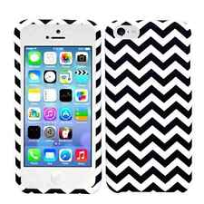 Apple IPhone 5C Cover Case Snap on Dark Blue Chevron Pattern Waves Tribal Aztec