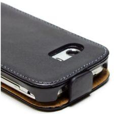 COVER FLIP CASE Samsung GT-S5300 Galaxy Pocket slim vertical cuir noir