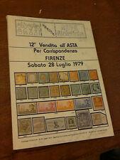 12 ° VENDITA ALL'ASTA PER CORRISPONDENZA FIRENZE SABATO 28 LUGLIO 1979