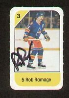 Rob Ramage signed autograph auto 1982-83 Post Cereal NHL Hockey Card