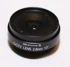 2.8mm Focal Length Fixed Iris CCTV Camera Lens CS Mount MF FI 2.8