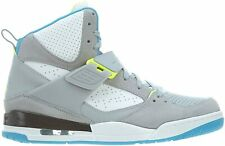 New Men's Air Jordan Flight 45 High Shoes (616816-016)  Wolf Grey/Dk Powder Blue