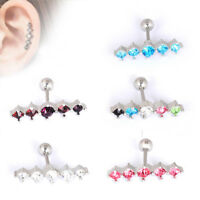 Silver Stainless Steel Barbell Ear Tragus Cartilage Stud Earrings Body Piercing