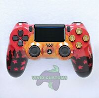 Custom PlayStation 4 Version 2 Dualshock Controller PS4 Slim/Pro - Red Dead V2