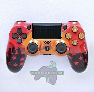 Custom PS4 Controller Red Dead Redemption Mod PlayStation 4 Dualshock V2 Gamepad