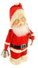 "Vintage ALPS Santa Claus Christmas Wind Up Toy Celluloid Decoration Japan 7"""