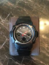 Casio Men's G-Shock 'Multi-Band 5' Solar Atomic Analog Watch Black AWG101-1A