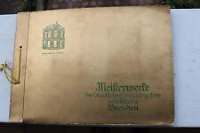 23881 TEEKANNE Sammel Bilder Album Meisterwerke der Gemäldegalerie Dresden 1934