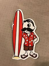 NATTY BOH SURFBOARD MAGNET - ICONIC NATTY FACE - LARGE 6 1/2 INCHES TALL - NEW