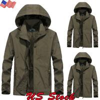 Men's Waterproof Hooded Winter Warm Jacket Breathable Outwear Snow Rain Overcoat