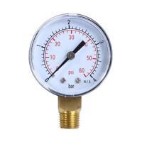 "Pool Spa Filter Water Pressure Gauge 60PSI Side Mount 1/4"" Inch Pipe Thread"