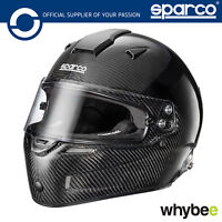 003344 Sparco SKY RF-7W Carbon Race Helmet Snell FIA 8859-2015 Hans Clips