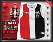 Nick Riewoldt Signed St Kilda AFL Retirement Jumper Framed - Official AFLPA