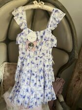 LoveShackFancy for Target AMALIE Dress Blue Floral Ruffle XS NWT