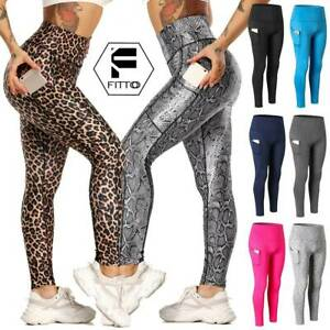 Women Yoga Leggings Pocket Fitness Sports Gym Exercise Running Stretch Pants MLF